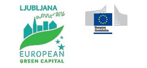 Logo Ljubljana - European green capital color
