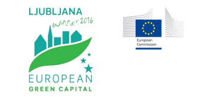 Logo Ljubljana - European green capital color