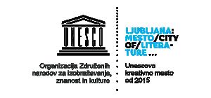 Logotip Ljubljana - Unescovo kreativno mesto barvni
