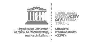 Logotip Ljubljana - Unescovo kreativno mesto