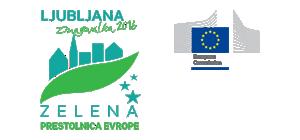 Logotip Ljubljana - Zelena prestolnica Evrope barvni